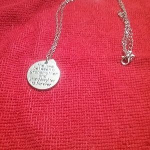 Jewelry - Silver Engraved Charm & Chain